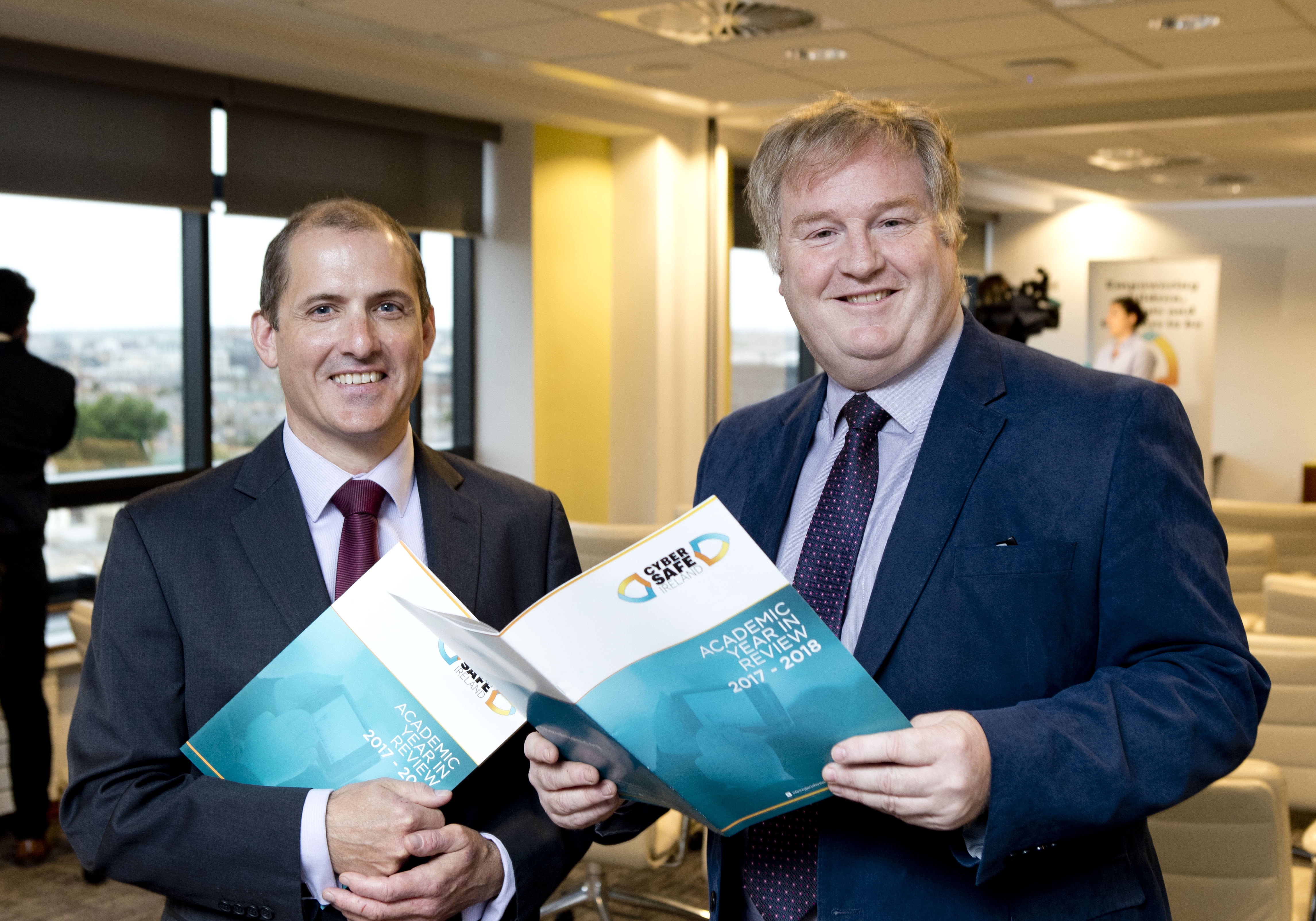 EY's Hugh Callaghan and Cormac Kelly support the launch