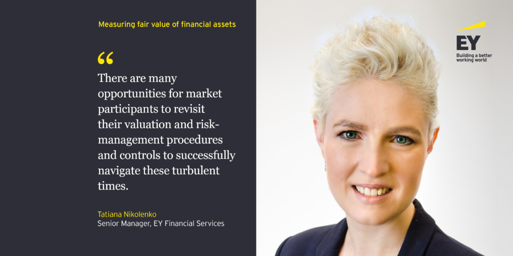 Measuring fair value of financial assets in turbulent times